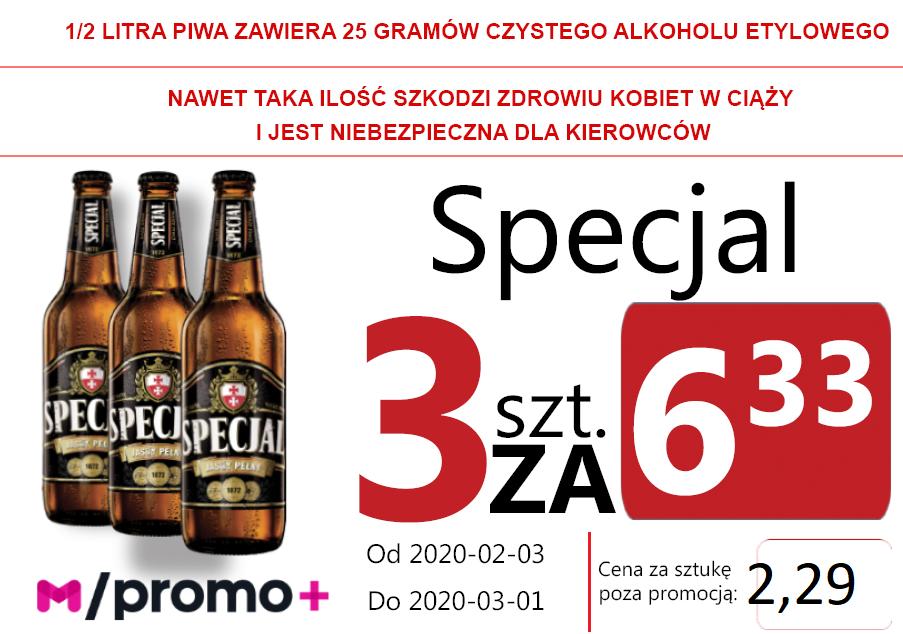 Specjal Jasny Pełny But 3 za 6,33 zł