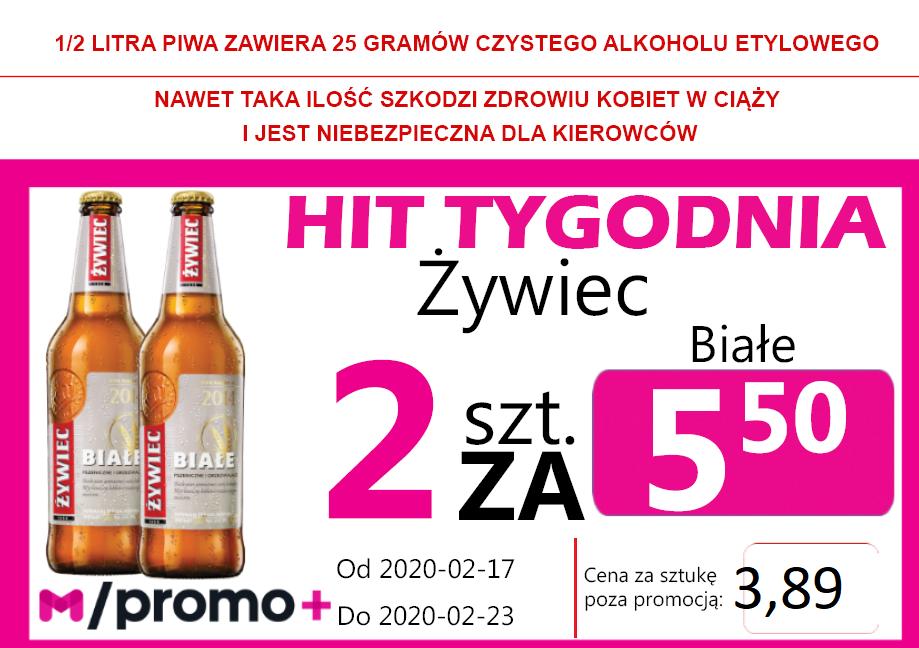 HIT Tygodnia Żywiec Białe But 2 za 5,50 zł