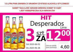 Desperados Lime But 3 za 12,00 zł